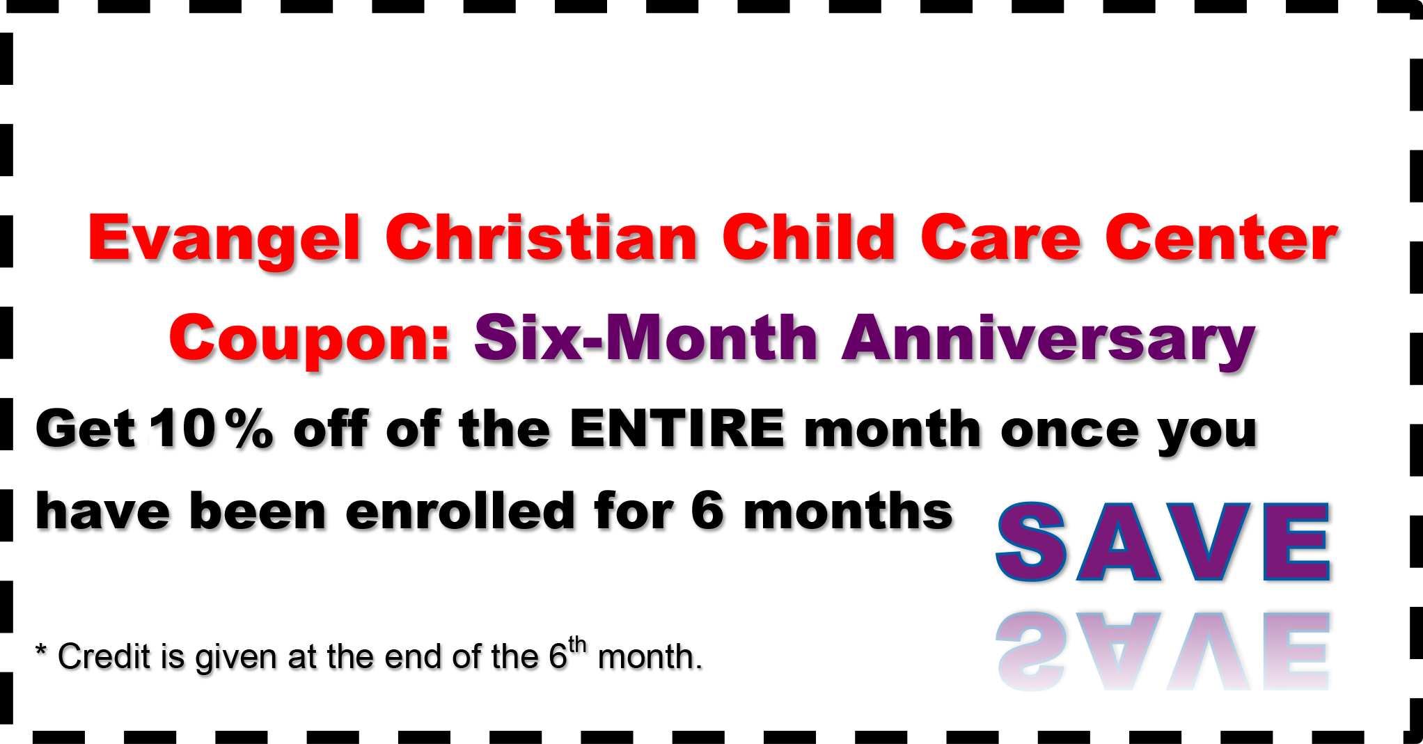 Six-Month Anniversary - Coupon